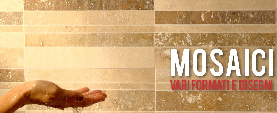 Mosaici in travertino di varie forme e dimensioni
