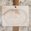 "Rectangular travertine washbasin ""Akei"""