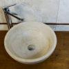 """Round travertine washbasin """"Ball"""""""