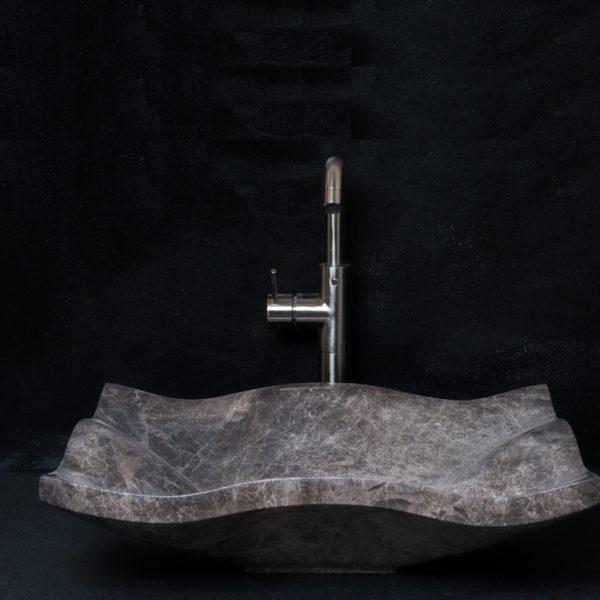 """Lavandino rettangolare in marmo """"Carta Emperador"""""""