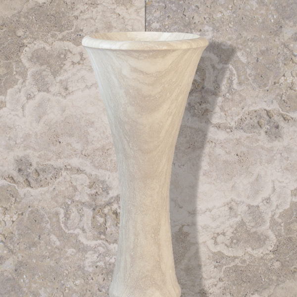 "Lavabo in travertino free standing ""Calice"""