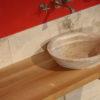 """Waschtisch """"Castellina"""" aus Holz und Travertin"""