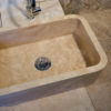 "Travertine washbasin ""Farm"""