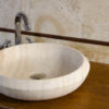 "Lavabo in travertino piccolo ""Essential CH"""