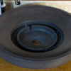 "Round basalt washbasin ""Ufo Black"""