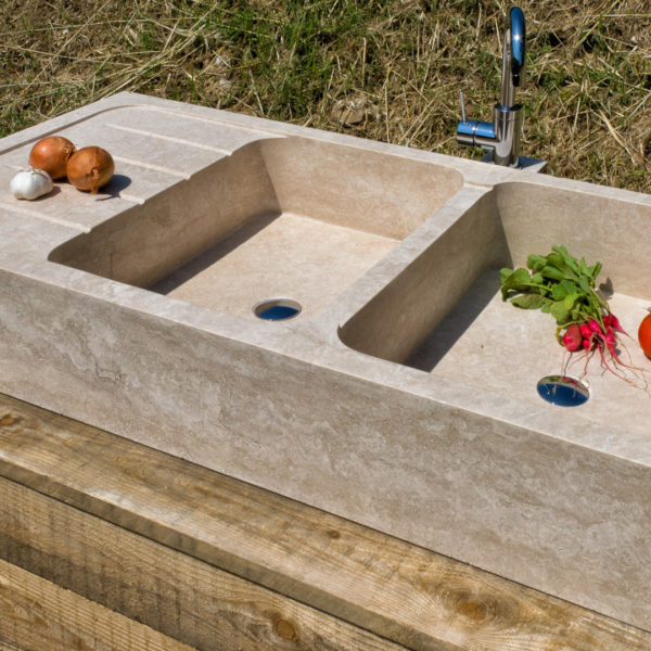 "Travertine sink ""Country"""