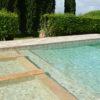"Mosaik aus Travertin ""5,0x5,0 Tuscany Mix"" geschliffen"