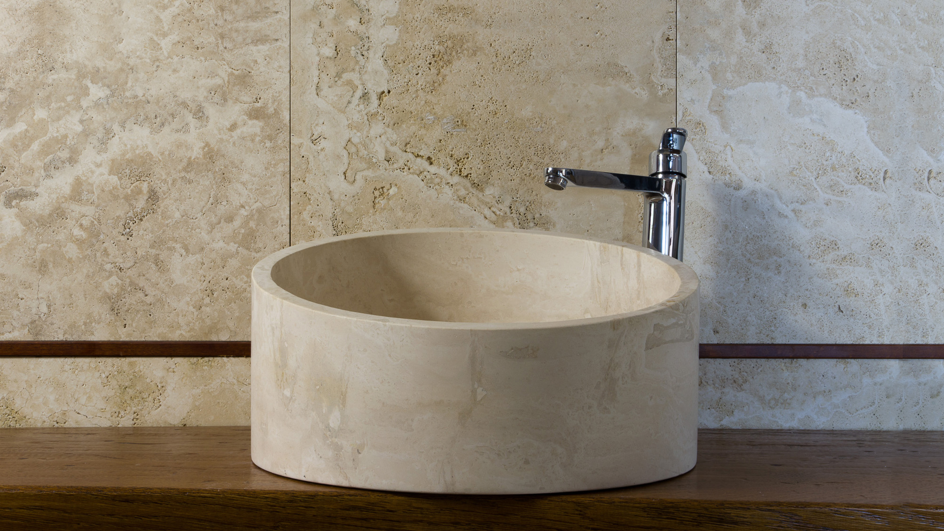 Lavabo moderno in travertino chiaro taglio pietre di rapolano - Lavabo cucina moderno ...