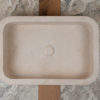 "Rounded travertine washbasin ""Farm B CH"""