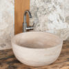"Thin-edged travertine washbasin ""Fiano Slim"""