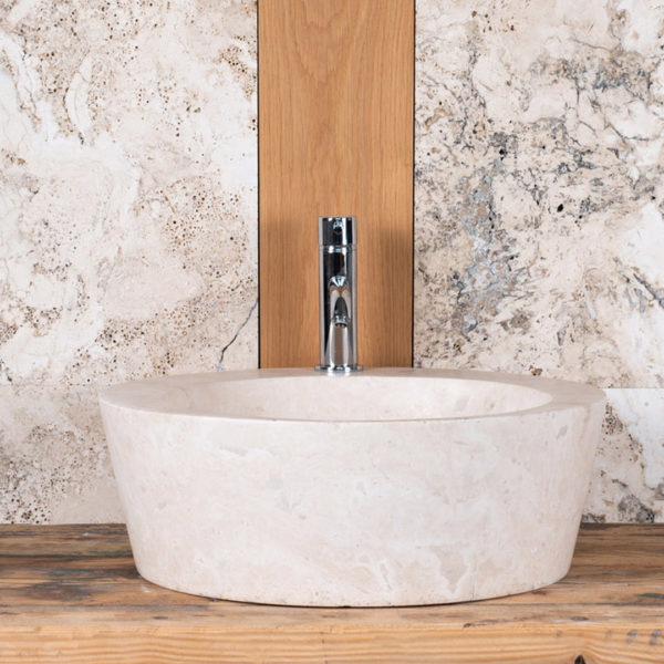 "Travertine washbasin ""Fonte"""