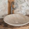 """Lavabo da bagno in travertino """"Fonterutoli"""""""