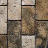 """Travertine mosaic """"5.0x10.0 Tuscany Mix"""" Pebble"""