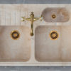 "Travertine sink ""Acquaio Triplo"""