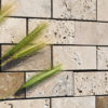 "Travertine mosaic ""5.0x10.0 Tuscany Mix"" Polished"