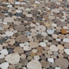"""Mosaik aus Travertin """"Petali Tuscany Mix"""" Levigato"""