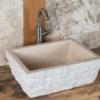 "Rustic travertine washbasin ""Pilozzo"""