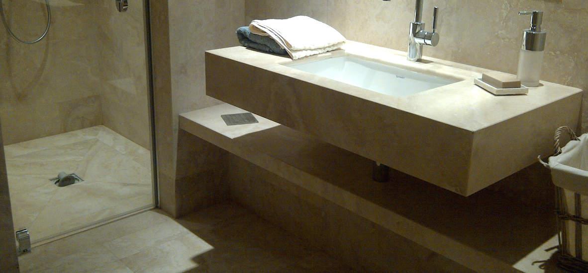 Rivestimenti bagni di Castelfalfi - Pietre di Rapolano