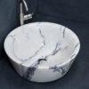 """Rundes Waschbecken aus Marmor """"Simple Lilac"""""""