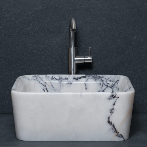 "Square marble washbasin ""Square Lilac"""