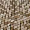 """Mosaik aus Travertin """"Arlecchino Tuscany Mix"""" Levigato"""