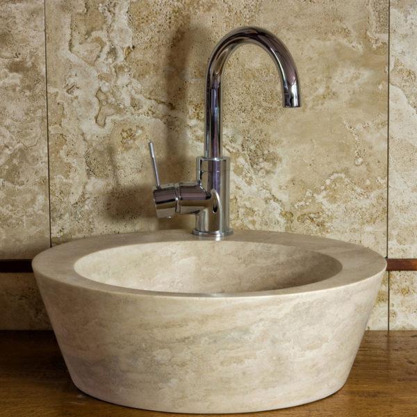 """Lavabo da bagno in travertino """"Fonte"""""""