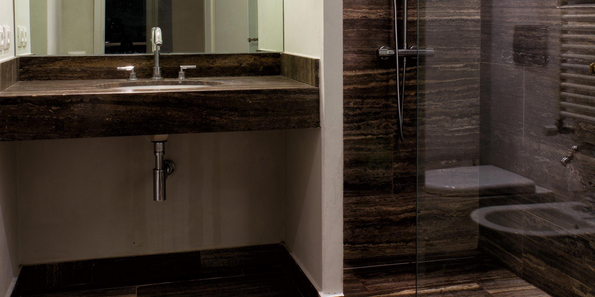 Lavabo con mobile - Piano lavabo bagno ...