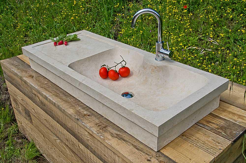 Lavabi da cucina in pietra pietre di rapolano - Lavandino cucina in pietra ...