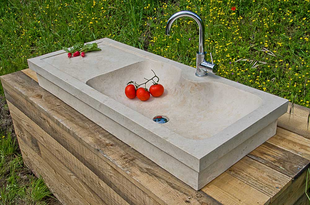 Lavabi da cucina in pietra pietre di rapolano - Lavelli cucina in pietra ...
