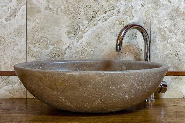 Piano lavabo in pietra free mobile da bagno con piano - Lavabo bagno marmo prezzi ...