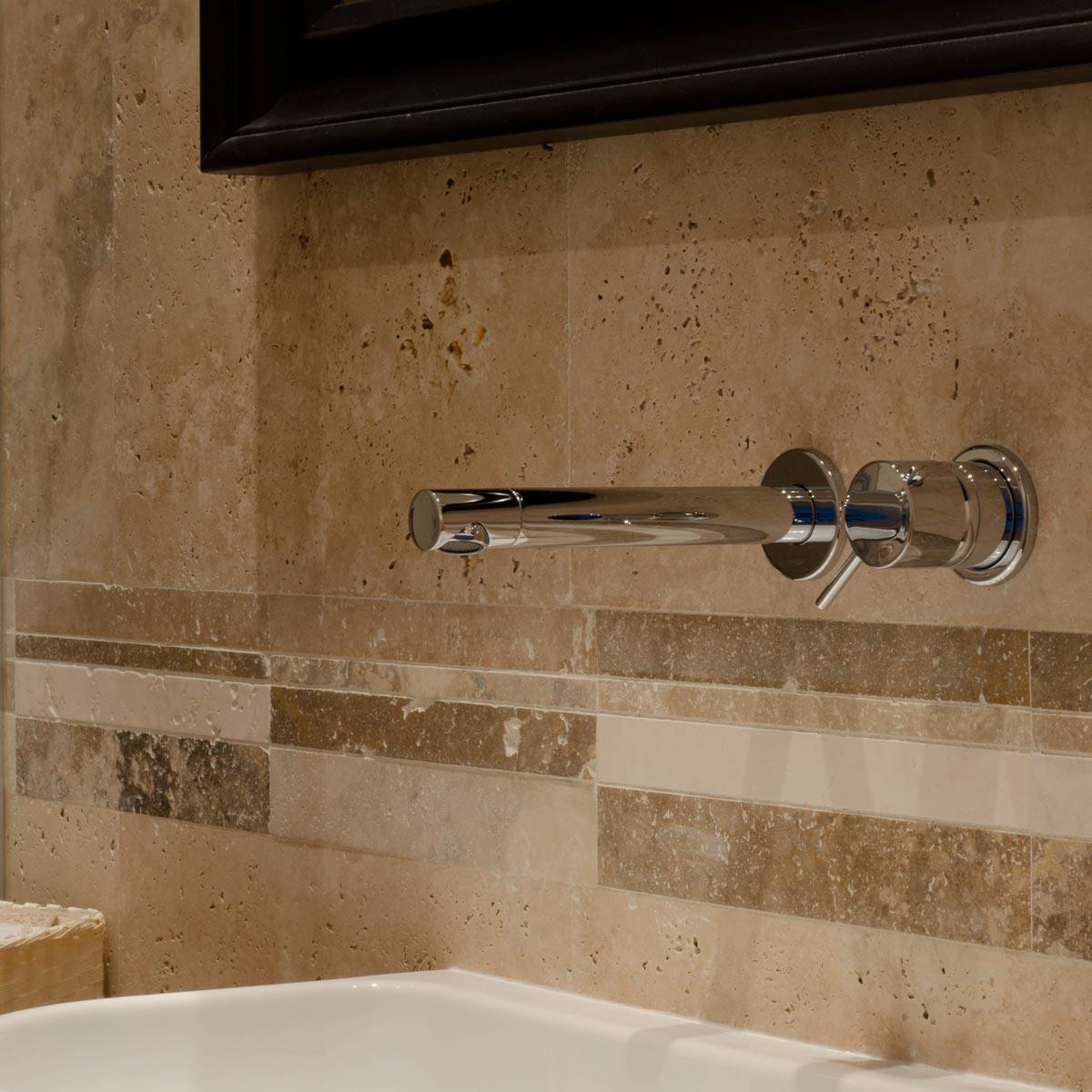 Terrazza decorazione arredare - Bagno rivestimento pietra ...