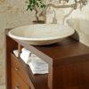 """Mobile da bagno in legno e travertino """"Tavarnelle"""""""