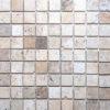 """Travertine mosaic """"5.0x5.0 Tuscany Mix"""" Pebble"""