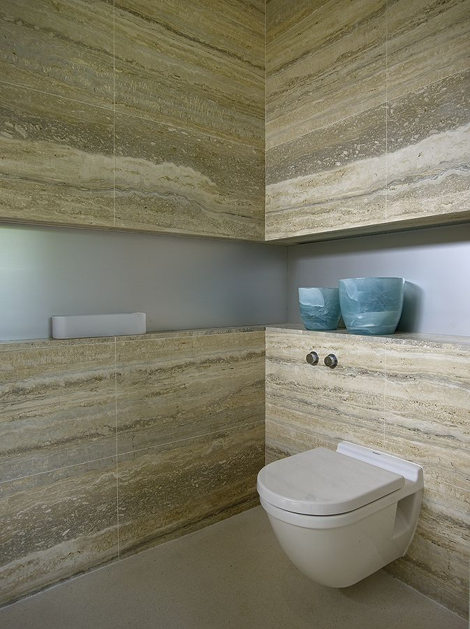 Rivestimento bagno in travertino controfalda Zebra Silver Grey