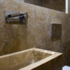 "Cross-cut travertine ""Becagli Scuro"""
