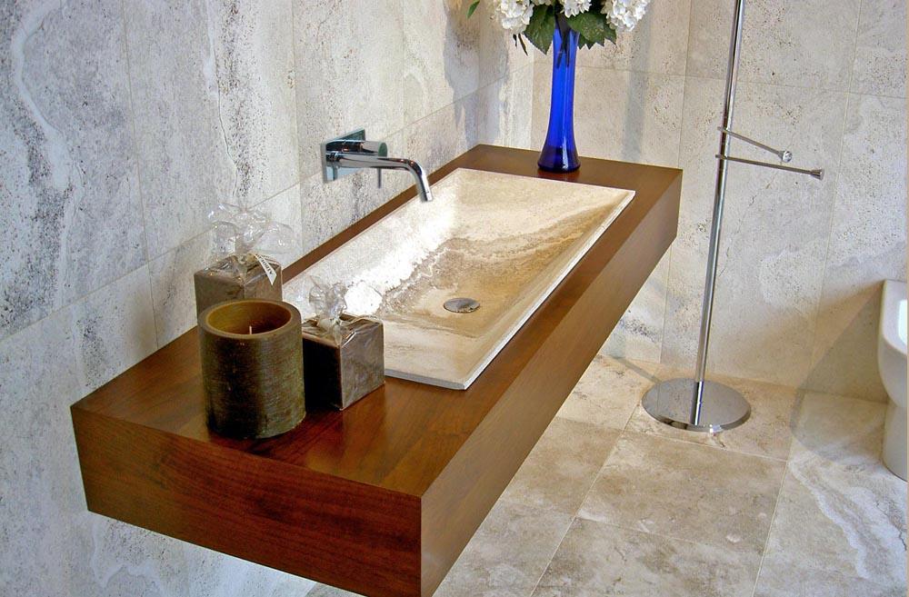 Stile europeo antico mobiletto del bagno in legno con top b