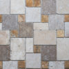 "Mosaik aus Travertin ""Mini Comp 40 Multicolor Blend"" Ciottolo"