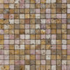 "Mosaik aus Travertin ""3x3 cm Coral Mix"" Rustico"