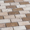"Mosaik aus Travertin ""2,5x5,0 Tuscany Mix"" geschliffen"
