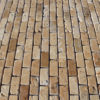 "Travertine mosaic ""2.5x5.0 Multicolor"" Rustic"