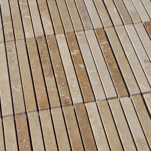 "Travertinmosaik ""Mini Planks HF"" Moderno"