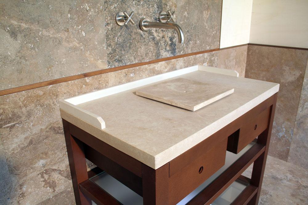 Piani Lavabo Bagno In Pietra.Bagno Rustico In Pietra Elegant Camini Rustici In Pietra E