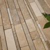 "Mosaico in travertino ""Strips Tuscany Mix"" Moderno"