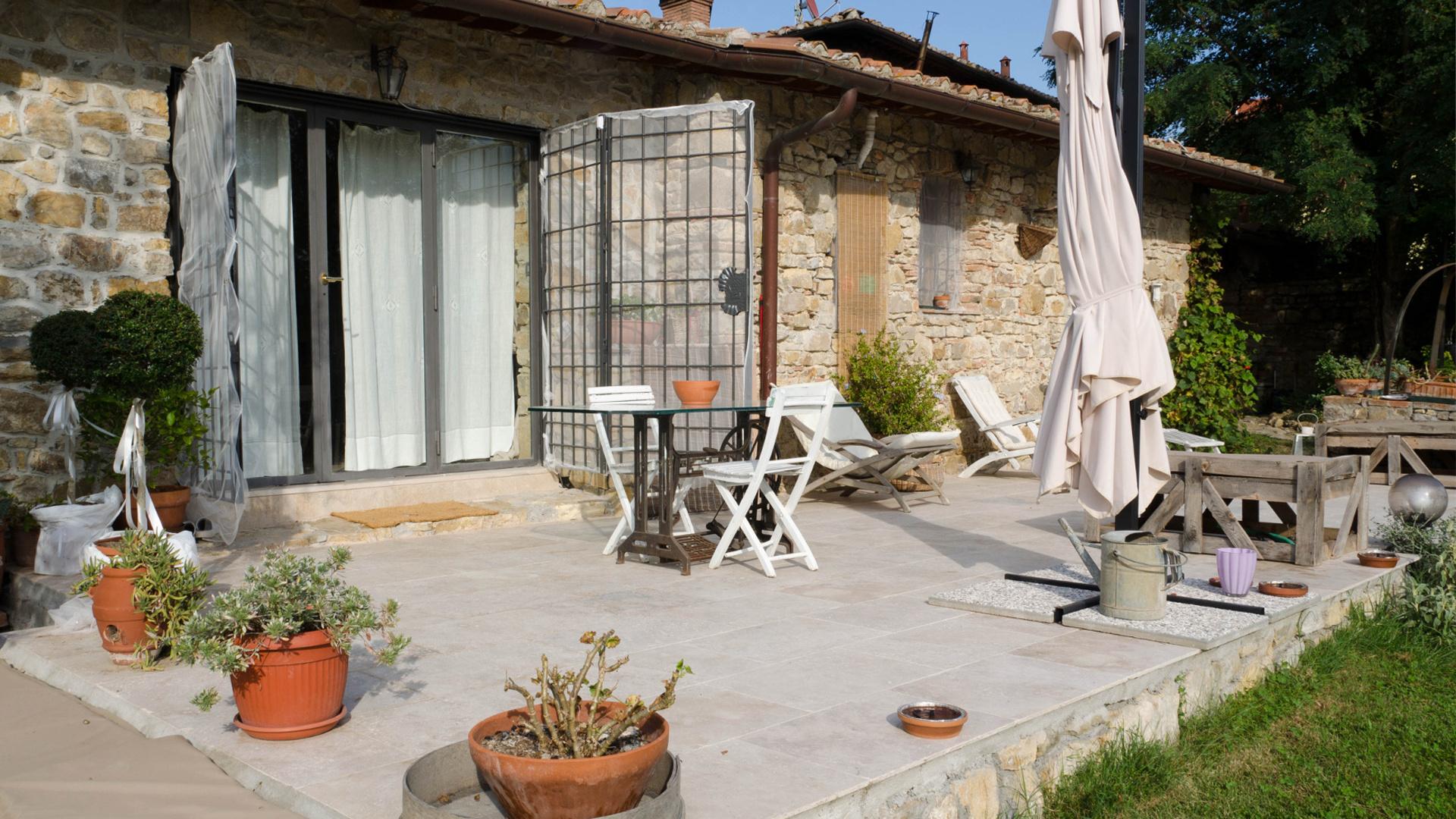 Esterno Casa Di Campagna project of farmhouse in the tuscan countryside - pietre di