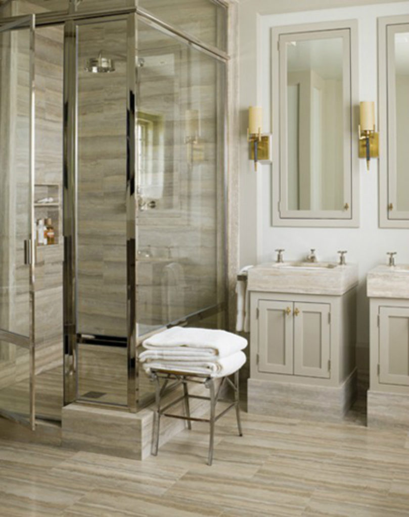 Bagno in travertino Zebra Silver