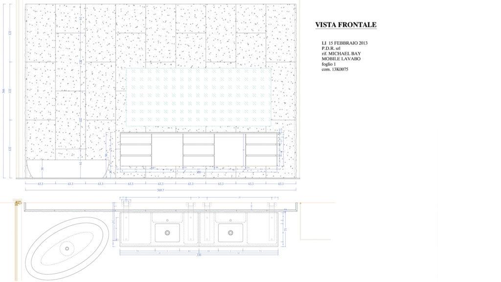 Progettazione bagno villa di Michael Bay