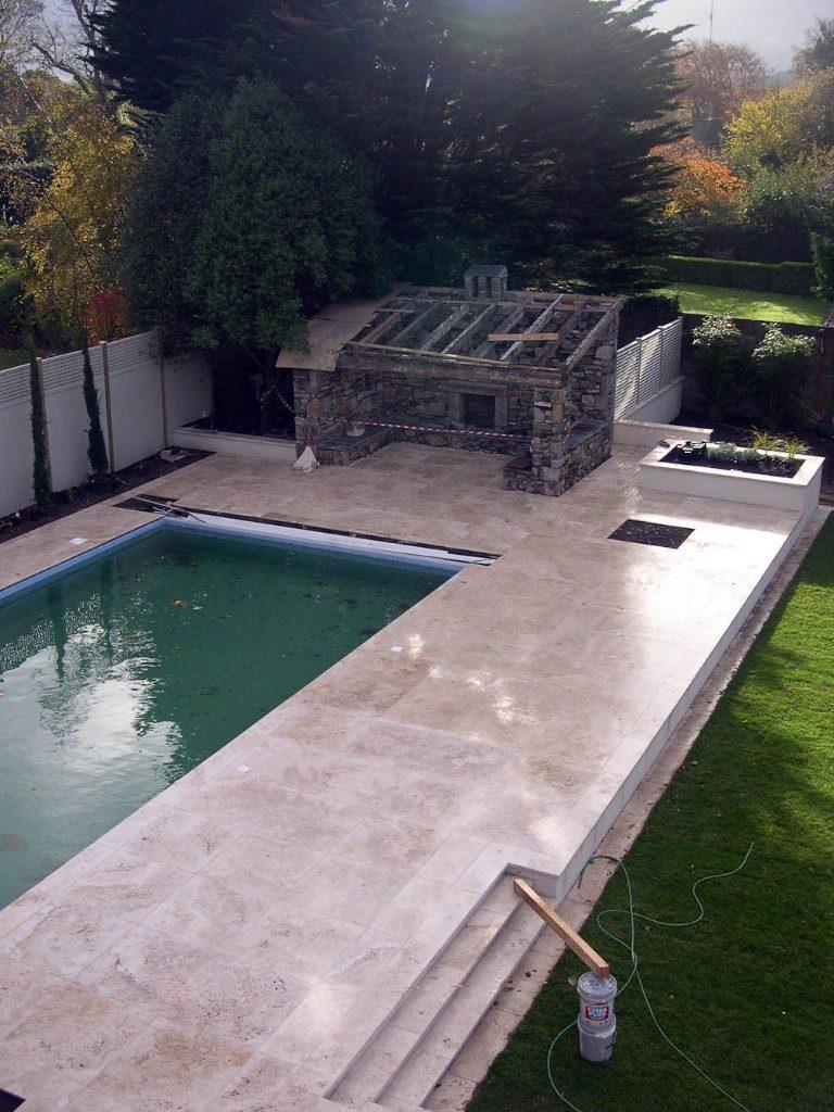 Rivestimento piscina in travertino Becagli Chiaro (PDR006)