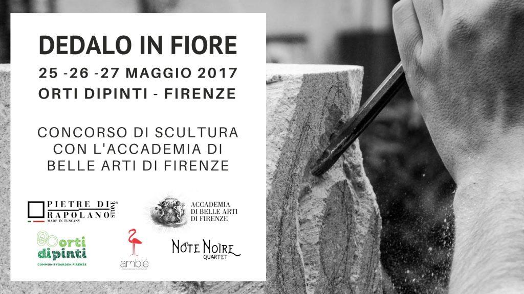 Dedalo in fiore concorso di scultura con accademia di belle arti 25-27 maggio 2017