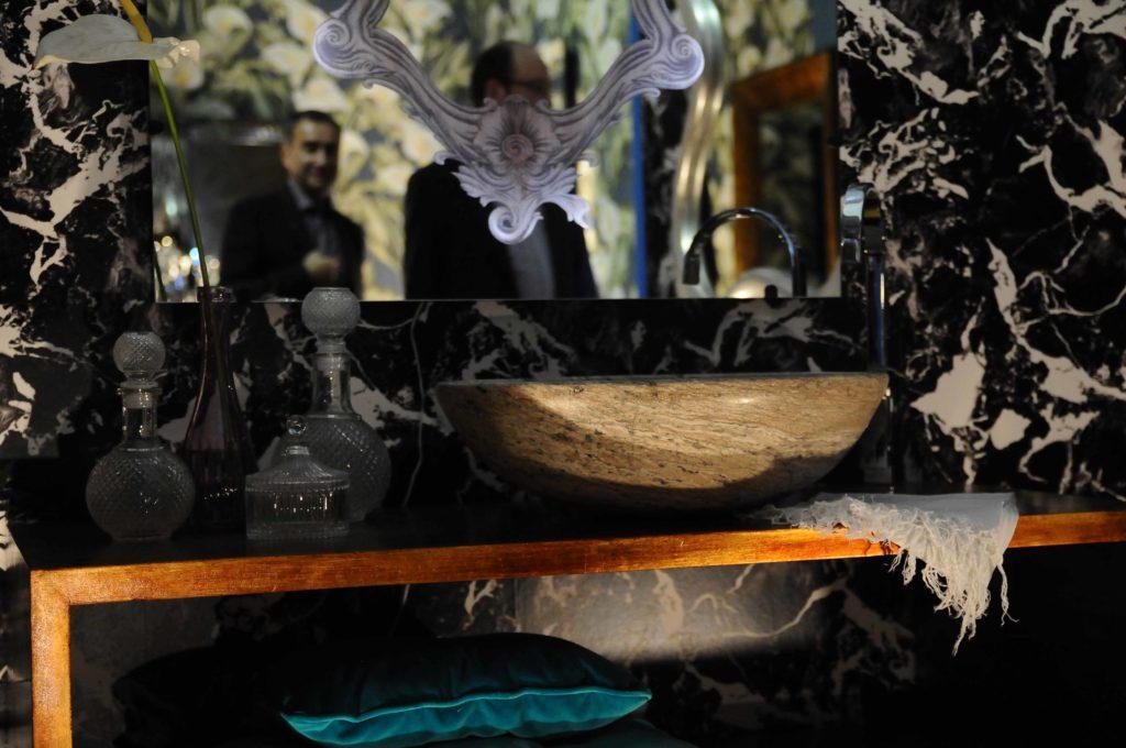 lavabo scuro pietre di rapolano 2016 ovale travertino bagno arredo salone del mobile milano