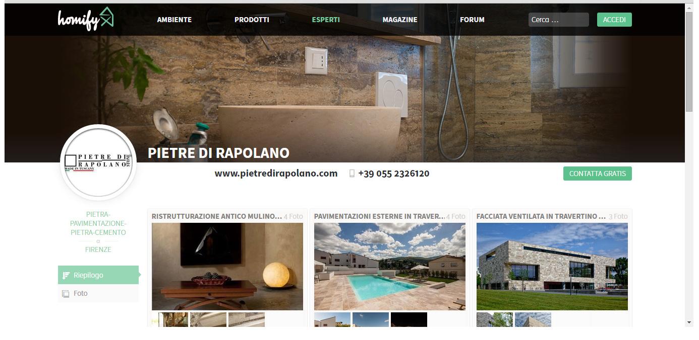 Pietre di rapolano homify architettura progetti travertino materiali project travertine italy